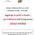 Visita del Ministro Kyenge alla Comunità La Valle