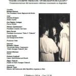 02.02.1976 – 02.02.2014. Commemorazione di Padre Giuseppe Tedeschi nel 38° anniversario del suo assassinio