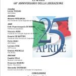 25 aprile. 68° Anniversario della Liberazione