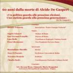 60 anni dalla morte di Alcide De Gasperi