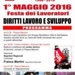 1° Maggio 2016 – Festa dei Lavoratori