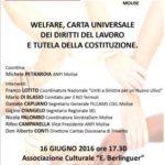 Welfare, Carta Universale dei Diritti del Lavoro e tutela della Costituzione