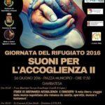 """Giornata del Rifugiato 2016 """"Suoni per l'Accoglienza II"""""""