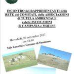 Incontro dei rappresentanti della Rete dei Comitati, della Associazioni di Tutela Ambientale e delle Istituzioni di Campania e Molise