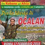 Corteo Nazionale Roma 17 febbraio 2018. Fermare la guerra in Siria e restituire la libertà al popolo curdo