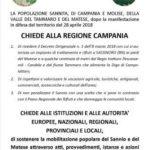 Manifestazione in difesa della Valle del Tammaro a confine tra Campania e Molise