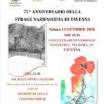 75° anniversario della strage nazifascista di Tavenna