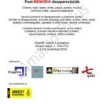 Desaparecidos: 1/4 novembre 2018 ad Agape (Torino). Nota