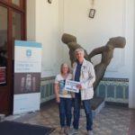 Montevideo con Maria Bellizzi, sorella di un desaparecidos uruguayano nel Museo Nazionale della Memoria, perché nessuno dimentichi gli orrori del fascismo e della tirannia!