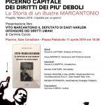 Matera 2019 – Capitale Europea della Cultura. Emigrazione e Diritti. Vito Marcantonio e Arturo Giovannitti