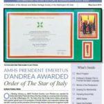 Apprezzamenti per il meritato riconoscimento della Repubblica Italiana al molisano Lucio D'Andrea