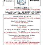 Diritti Umani e Integrazione dei Profughi e Rifugiati. Iniziativa solidale a Tavenna