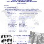 Matera 9 dicembre 2019. L'Italia ricorda i migranti morti sul lavoro a partire dalla tragedia di Monongah