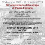 Strage di Piazza Fontana: <Non dimentichiamo>