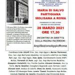 28.03.1944 – 28.03.2021 Anniversario dell'assassinio della partigiana molisana Maria Di Salvo